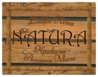 Linseed oil paint - stain NATURA